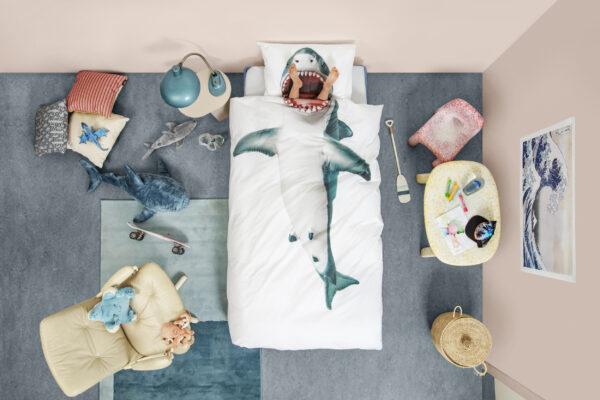 beddengoed haai