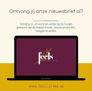 ✨Ontvang jij onze nieuwsbrief al?✨ . Nee? Dan is het nu tijd om je in te schrijven via www.feels-store.be 😉 Zo word je als eerste op de hoogte gebracht van de laatste trends, nieuwe producten, koopjes en acties.  . #feelsstore #welcometothefeelsfamily #funwithfeels #feelsinspired #nieuwsbrief #soononline #ondernemeninbelgië #ondernemendevrouwen #hotspot #ambitieuzemeisjes #onlinewinkel #belgischewebshop