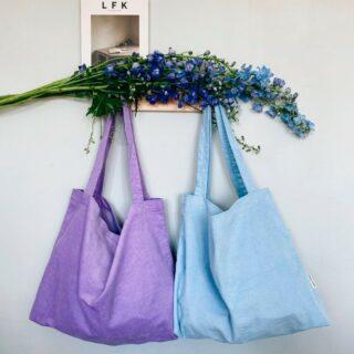 ✨STUDIO NOOS✨ . De nieuwe tassen van Studio Noos zijn fantastisch! 💜💙 Help! Wij kunnen niet kiezen! 😄 . #feelthesummervibe #studionoos #mombag #newcolors #totebag #shopper #rib #babyblue #lila #summermusthave